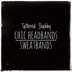 Tattered Shabby Chic Headbands Sweatbands